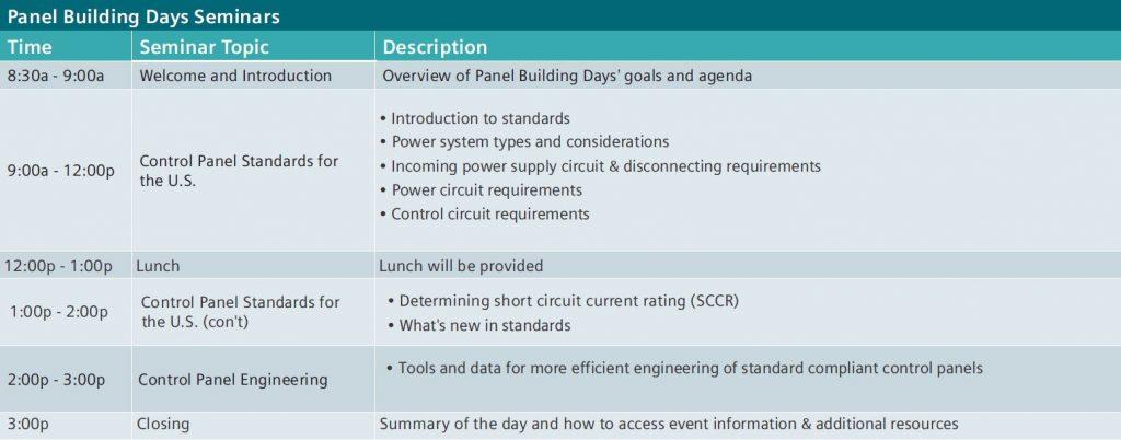 Siemens event agenda